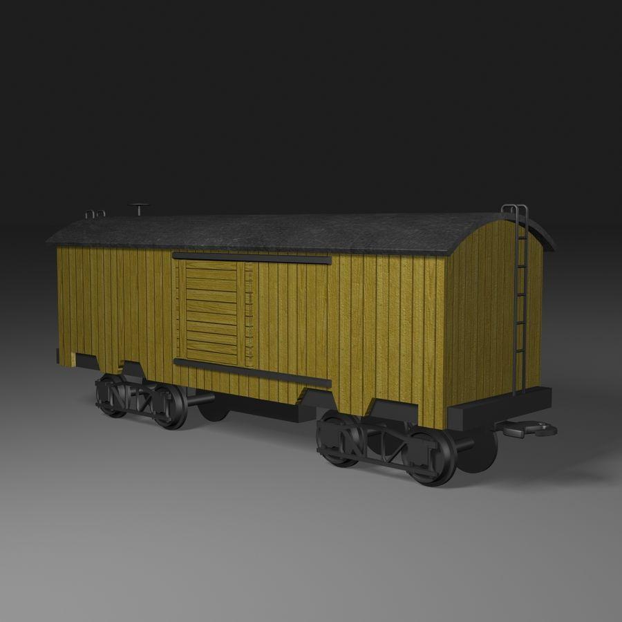 Güterwagen royalty-free 3d model - Preview no. 2