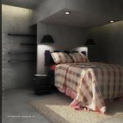 Escena interior dormitorio 01 modelo 3d