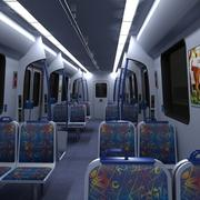 Interior do trem do metrô 3d model
