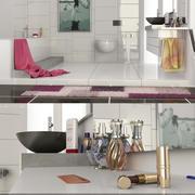 현대적인 욕실 3d model
