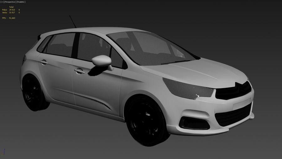 Citroen c4 royalty-free 3d model - Preview no. 6