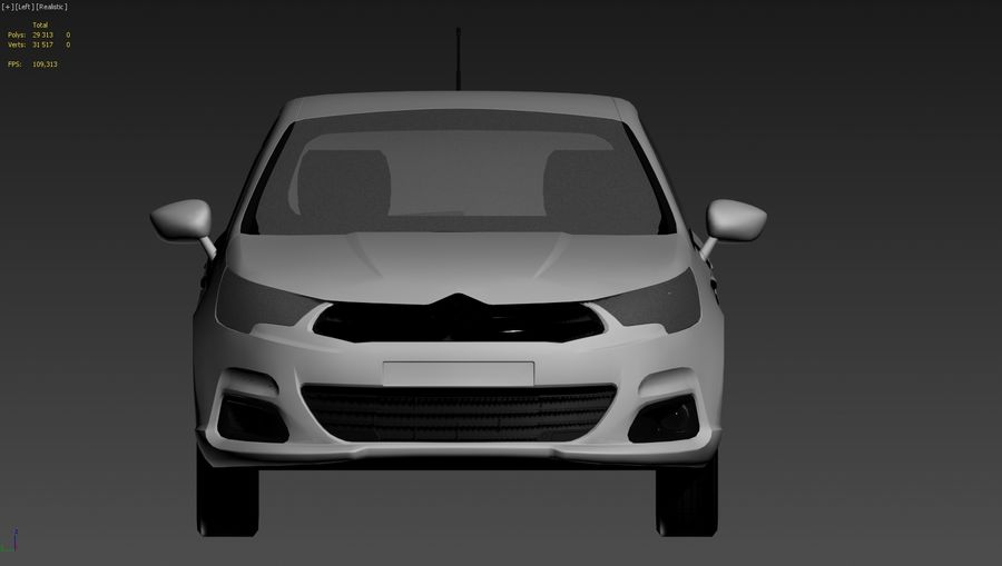Citroen c4 royalty-free 3d model - Preview no. 4
