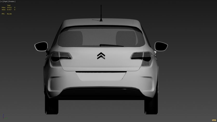 Citroen c4 royalty-free 3d model - Preview no. 2