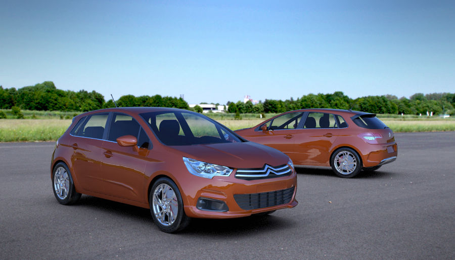 Citroen c4 royalty-free 3d model - Preview no. 1