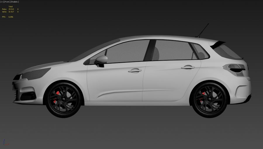 Citroen c4 royalty-free 3d model - Preview no. 5