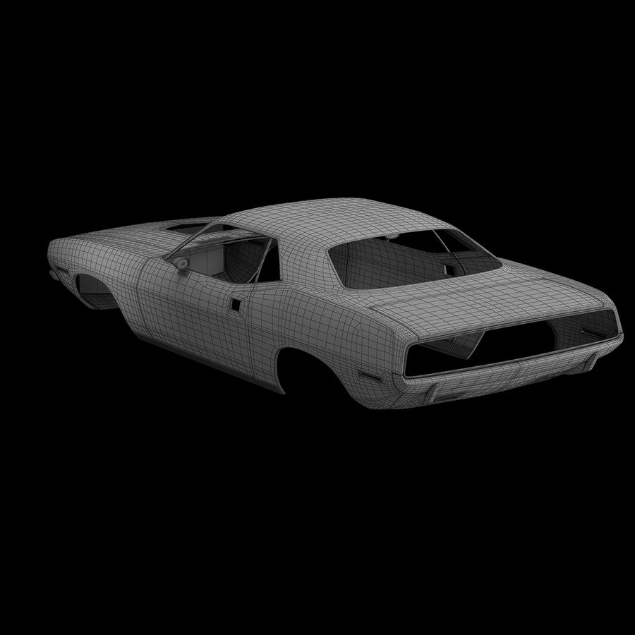 Plymouth Hemi Cuda 1970 royalty-free 3d model - Preview no. 16