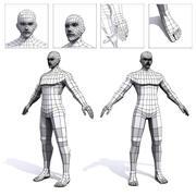 Malha de base baixa poli masculina 3d model