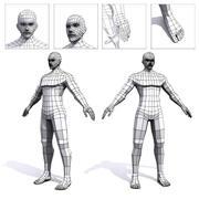 男性の低ポリベースメッシュ 3d model