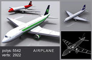 Avión modelo 3d