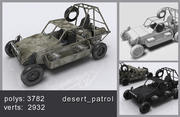 Pojazd patrolowy pustyni 3d model