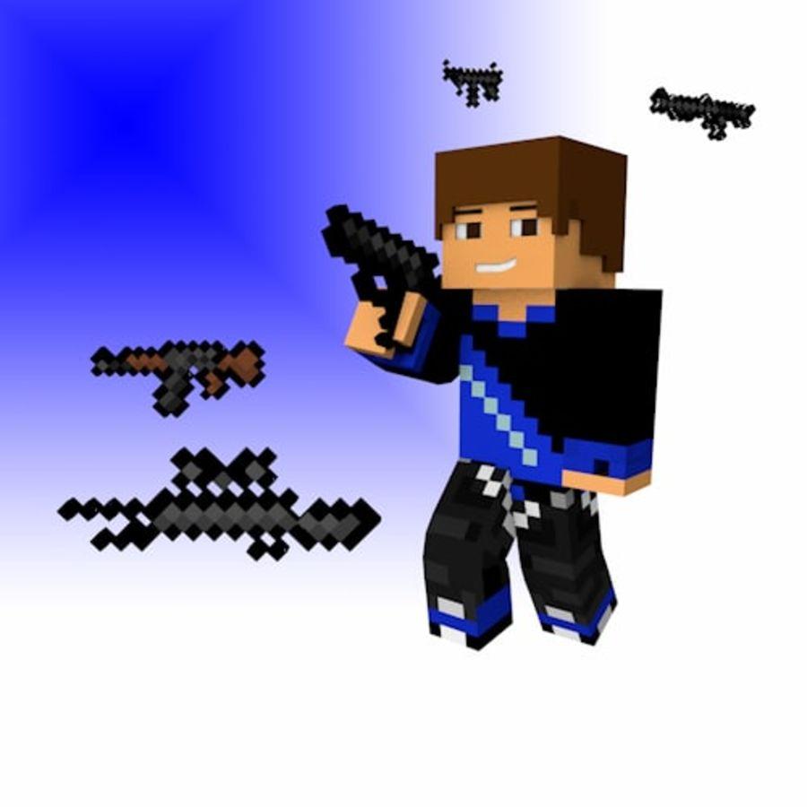 Armas y armas de Minecraft royalty-free modelo 3d - Preview no. 1
