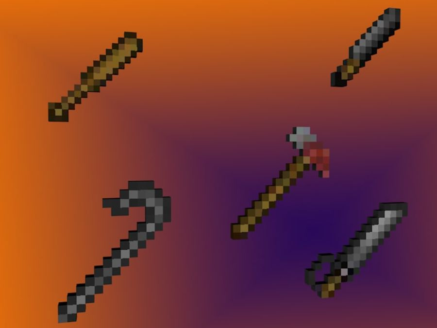 Armas y armas de Minecraft royalty-free modelo 3d - Preview no. 3