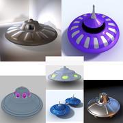 フライングソーサーエイリアンSpaceshiipコレクション 3d model