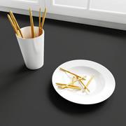 Konvexformat kökdekorationer - mellanmål 3d model