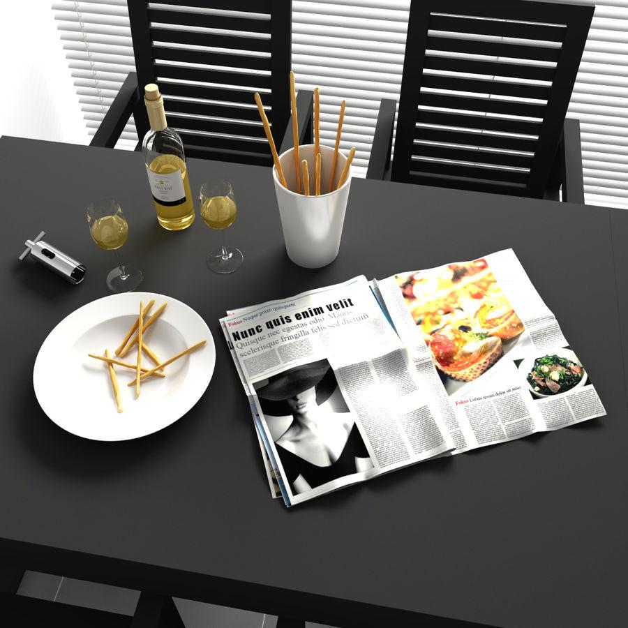 Konvexformat kökdekorationer - mellanmål royalty-free 3d model - Preview no. 3