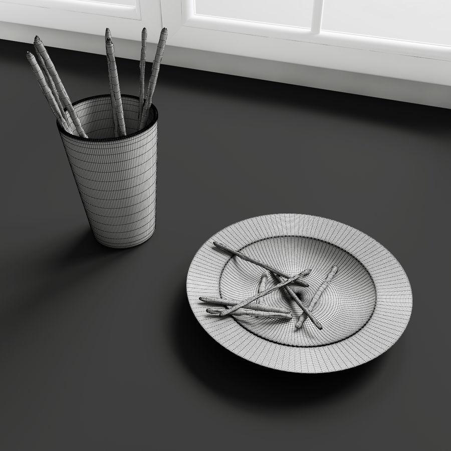 Konvexformat kökdekorationer - mellanmål royalty-free 3d model - Preview no. 2