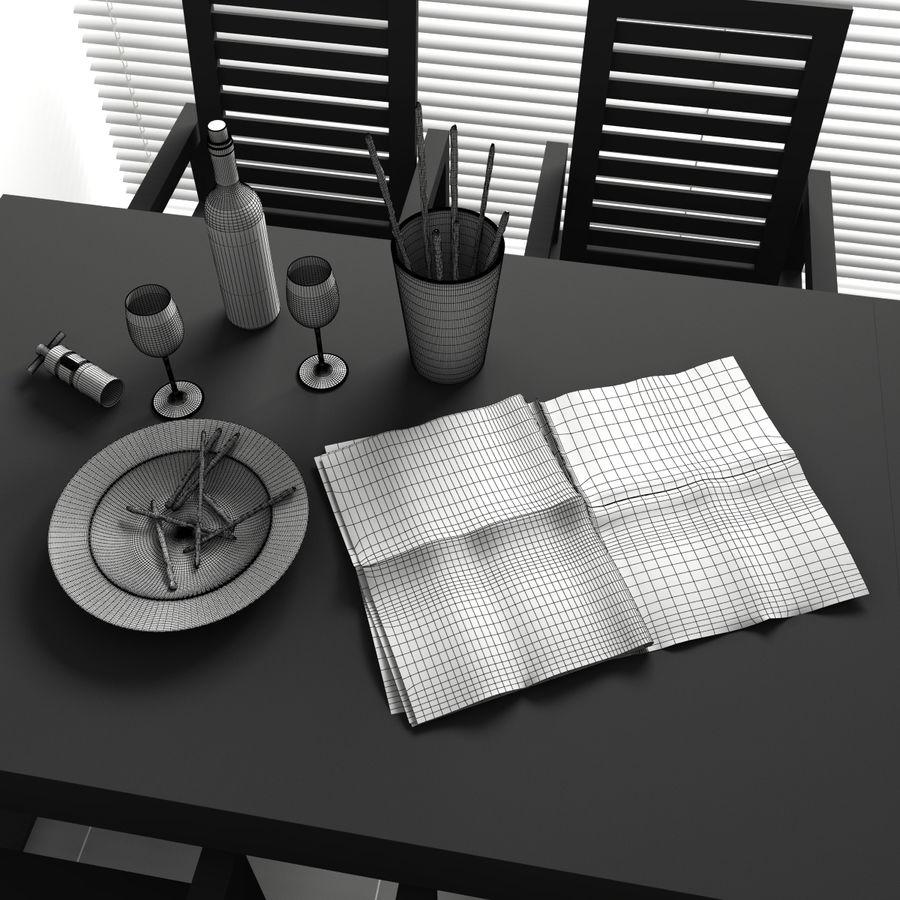 Konvexformat kökdekorationer - mellanmål royalty-free 3d model - Preview no. 4