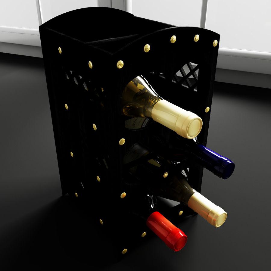 Konvexa kökdekorationer - Vinhylla royalty-free 3d model - Preview no. 1
