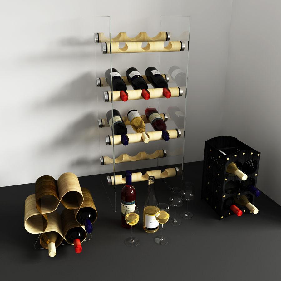 Konvexa kökdekorationer - Vinhylla royalty-free 3d model - Preview no. 3