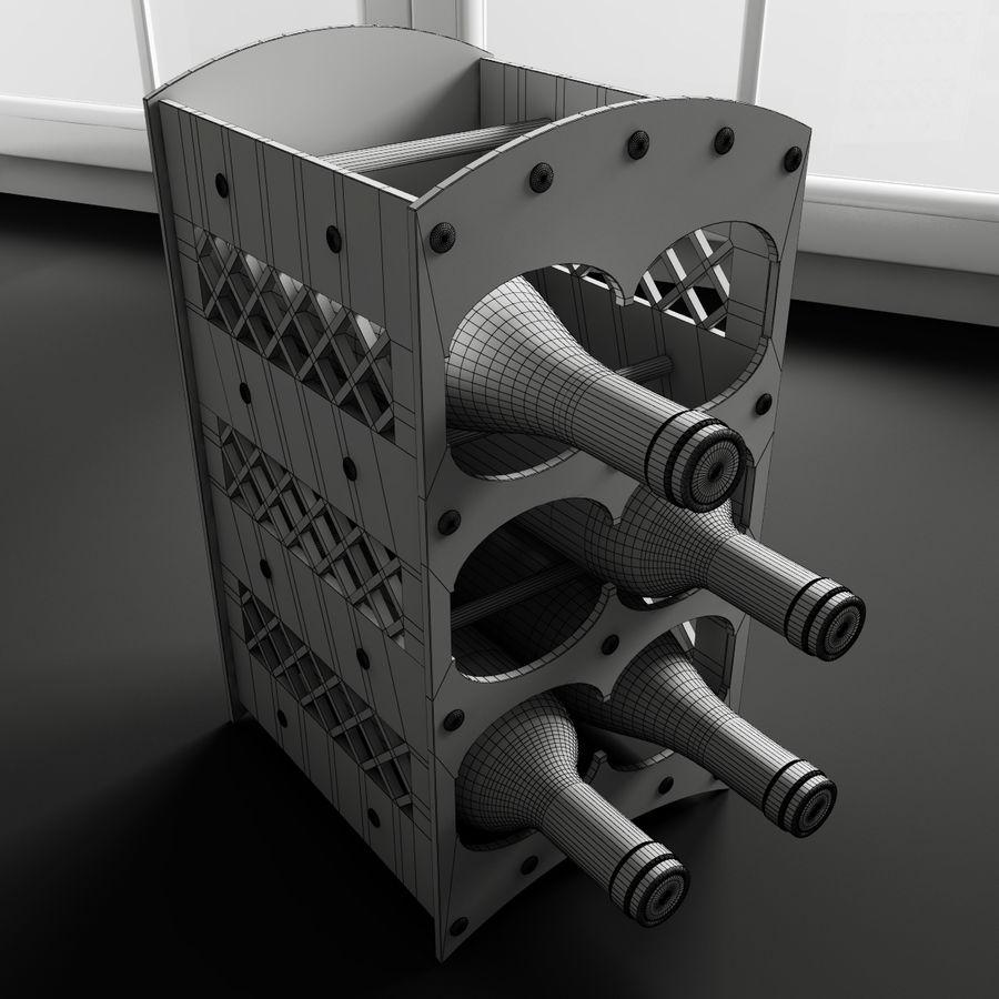 Konvexa kökdekorationer - Vinhylla royalty-free 3d model - Preview no. 2