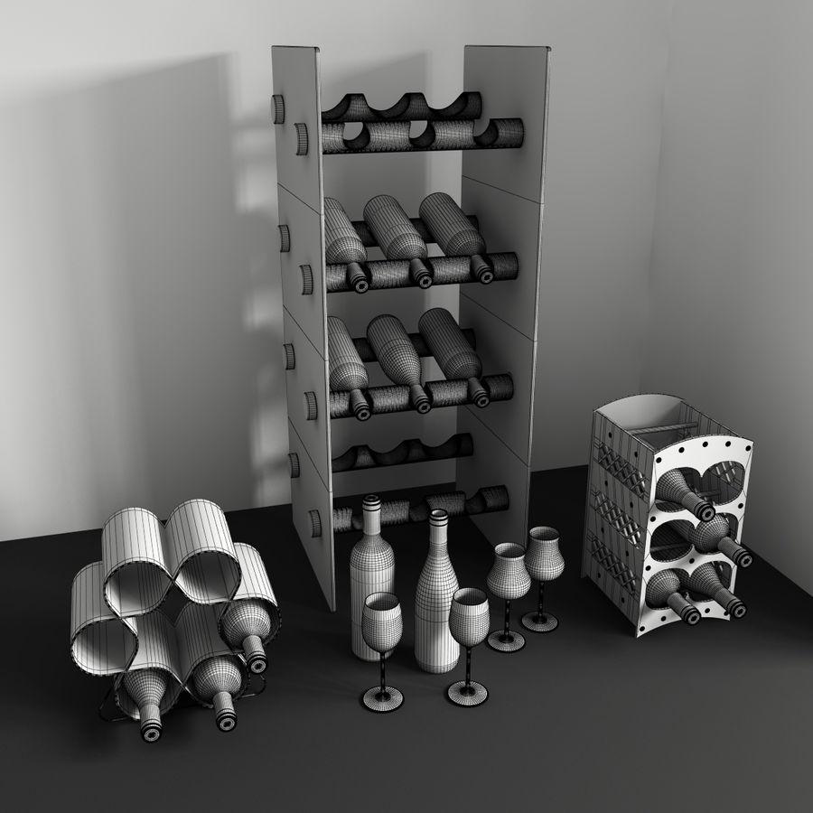 Konvexa kökdekorationer - Vinhylla royalty-free 3d model - Preview no. 4