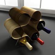 Konvexa kökdekorationer - Vinställ 3d model