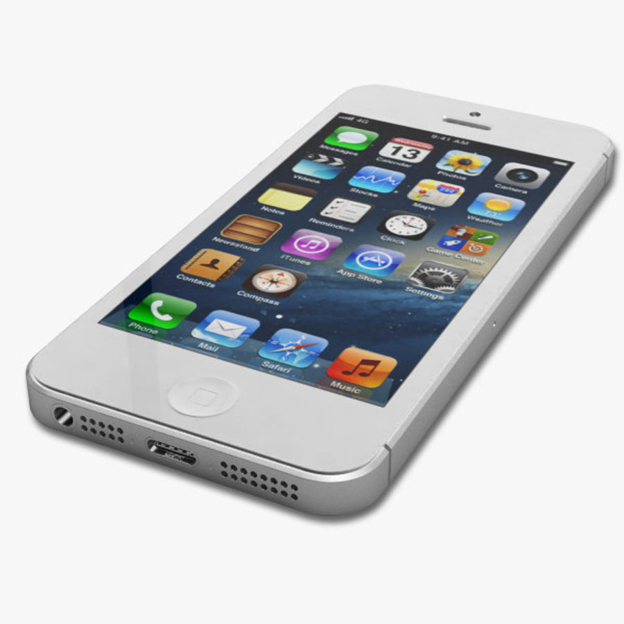 Apple iPhone 5 royalty-free 3d model - Preview no. 6