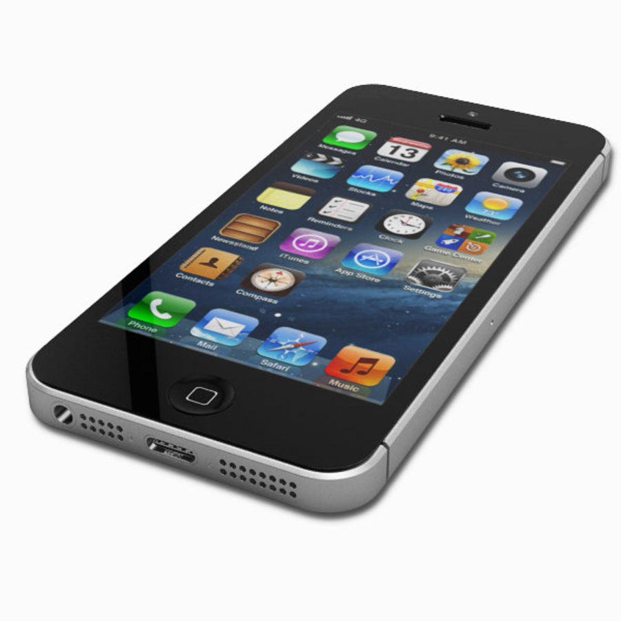 Apple iPhone 5 royalty-free 3d model - Preview no. 7