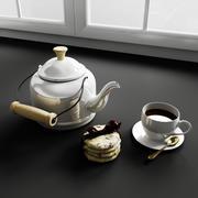 Konvexa kökdekorationer - Kaffekakor 3d model