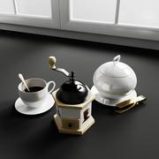 Konvexa kökdekorationer - Kaffepaus 3d model