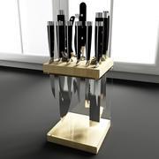 Konvexa kökdekorationer - Knivlagring 3d model