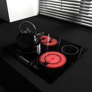 Decorações de cozinha convexas - Hob & kittle 3d model