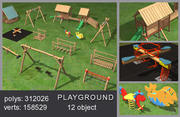 遊び場 3d model