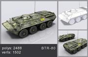 btr - 80 tank 3d model
