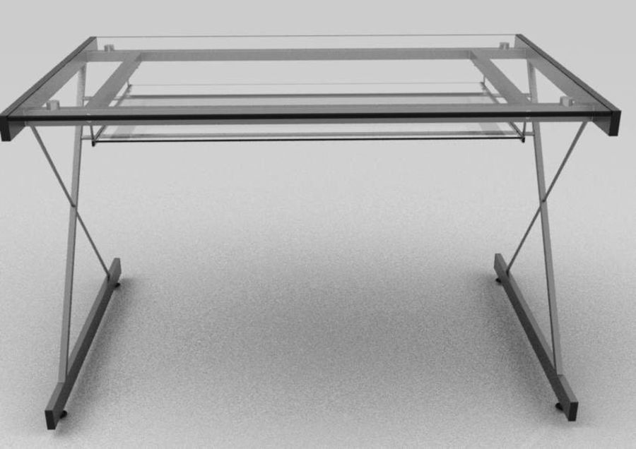 Computer Glas Schreibtisch royalty-free 3d model - Preview no. 2