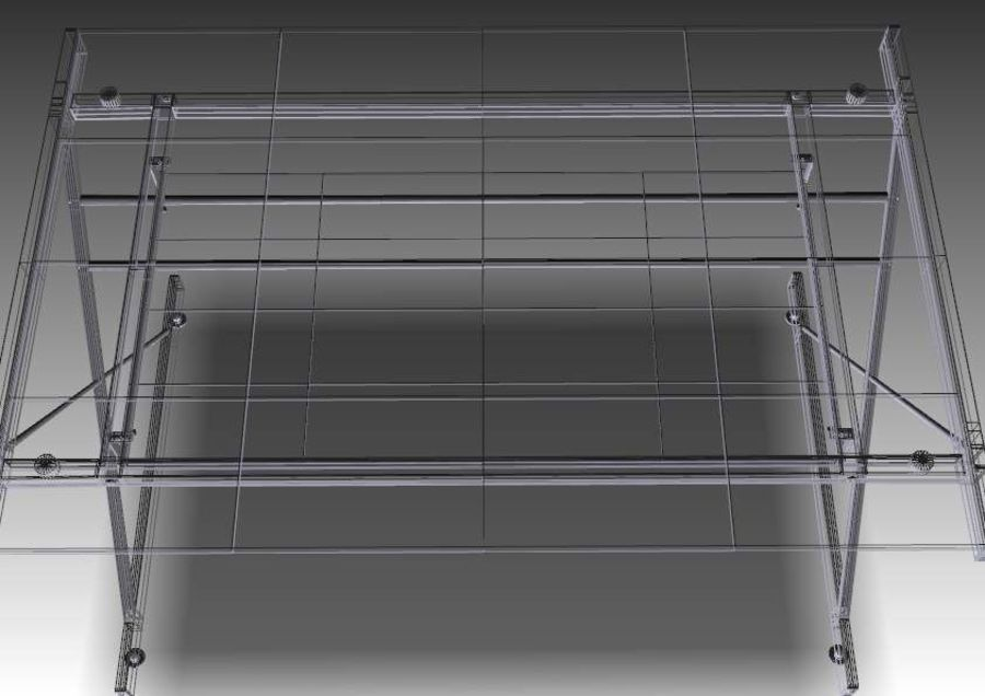 Computer Glas Schreibtisch royalty-free 3d model - Preview no. 9