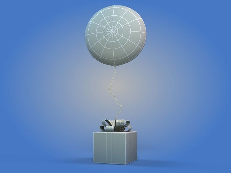 Birthday Balloon royalty-free 3d model - Preview no. 4
