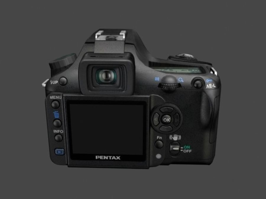 Very realistic pentax SLR Camera royalty-free 3d model - Preview no. 1