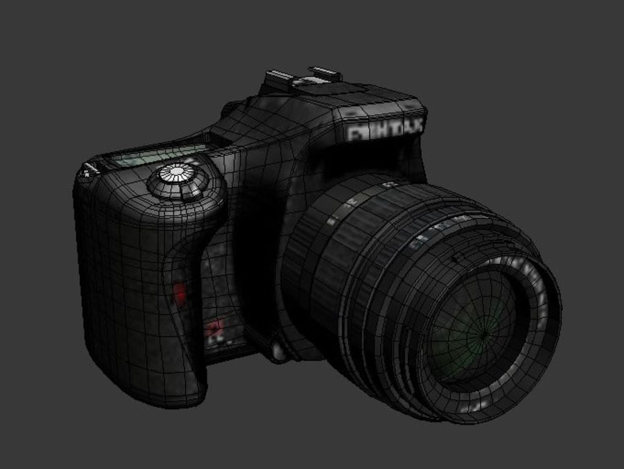 Very realistic pentax SLR Camera royalty-free 3d model - Preview no. 4