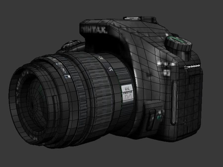Very realistic pentax SLR Camera royalty-free 3d model - Preview no. 2