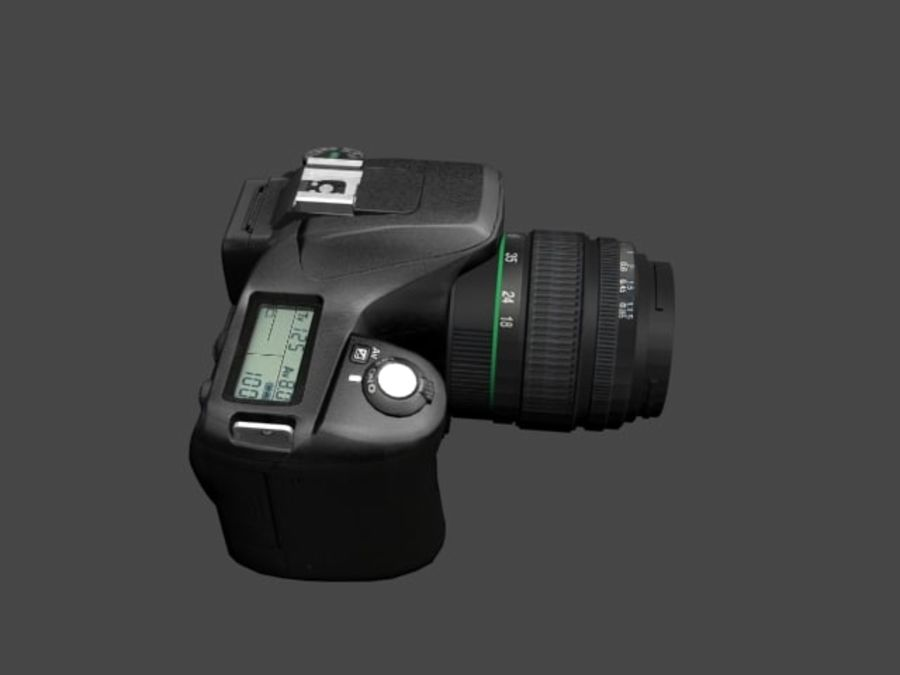 Very realistic pentax SLR Camera royalty-free 3d model - Preview no. 6
