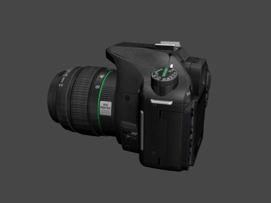 Very realistic pentax SLR Camera royalty-free 3d model - Preview no. 3