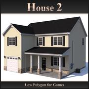 Low Polygon House 2 modelo 3d