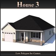 Casa Low Polygon 3 modelo 3d