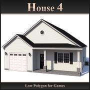 Low Polygon House 4 3d model