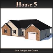 Casa poligonal baja 5 modelo 3d