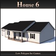 Low Polygon House 6 3d model