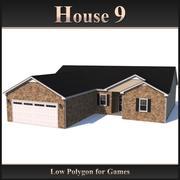 Низкополигональный дом 9 3d model