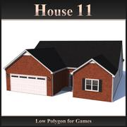 Low Polygon House 11 3d model