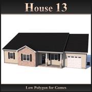 Casa poligonal baja 13 modelo 3d